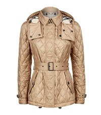 Burberry Short Finsbridge Quilted Coat Female Camel