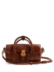 Burberry Trench Small Textured Leather Barrel Bag Tan
