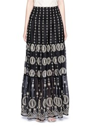 Alice Olivia 'Lysa' Eyelet Embroidered Convertible Maxi Skirt Black