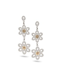 Opera Double Flower Drop Earrings Coomi