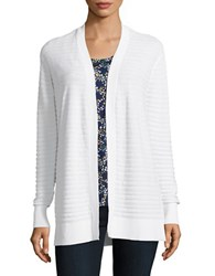 Michael Michael Kors Textured Cotton Cardigan White