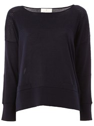Maison Ullens Perforated Detailing Knitted Blouse Blue