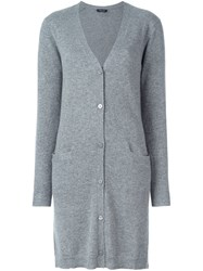 Twin Set Long Cardigan Grey