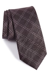 Calibrate Men's Plaid Silk Tie Pink