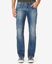 Buffalo David Bitton Men's Slim Fit King X Jeans Sanded And Contrasted