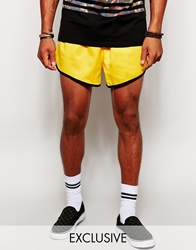 Reclaimed Vintage Retro Mini Shorts Yellow