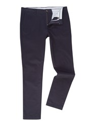 Linea Chelsea Slim Fit Chino Trousers Blue