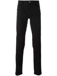 Dolce And Gabbana Guitar Patch Slim Jeans Black