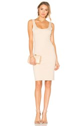 Blaque Label Scoop Neck Dress Nude