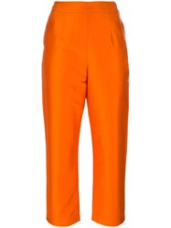 Isa Arfen Classic Cropped Trousers Yellow Orange