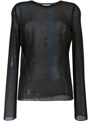 Nina Ricci Sheer Longsleeved T Shirt Brown