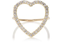 Jennifer Meyer Women's Large Open Heart Ring No Color