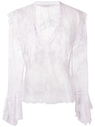Philosophy Di Lorenzo Serafini Ruffled Lace Blouse Women Polyamide 40 Pink Purple