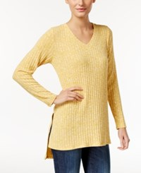 Styleandco. Style Co. Ribbed High Low Tunic Only At Macy's Saffron Yellow