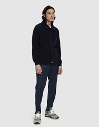 A Kind Of Guise Elasticated Wide Trousers In Marine