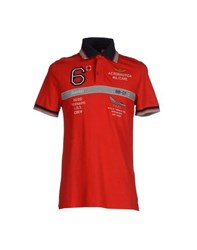 Aeronautica Militare Topwear Polo Shirts Men Red