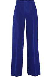 Oscar De La Renta Silk Faille Wide Leg Pants