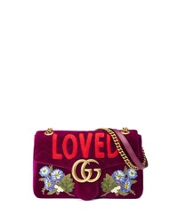 Gucci Gg Marmont 2.0 Small Loved Shoulder Bag Fuchsia