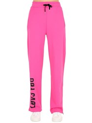 Red Valentino M155 Y06 Printed Jersey Sweatpants Fuchsia