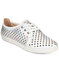 Easy Spirit Dafina Lace Up Flats Women's Shoes Silver White