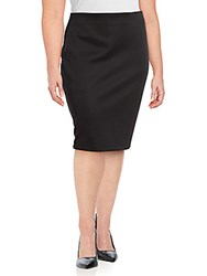 Vince Camuto Solid Pencil Skirt Black