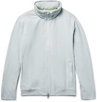 Reigning Champ Stretch Nylon Hooded Jacket Light Gray