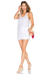 Michael Stars Shirred Mini Dress Light Gray