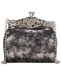Patricia Nash Metallic Leather Rosaria Clutch Black Metallic