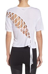 Alo Yoga Women's Entwine Crop Tee White