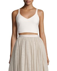 Elizabeth And James Nia Sleeveless Lace Up Crop Top Pink Sand