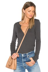 Lamade Lily V Neck Tee Charcoal