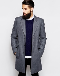 Asos Wool Overcoat Lightgrey