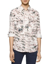 Calvin Klein Jeans Printed Roll Up Sleeve Shirt Cargo