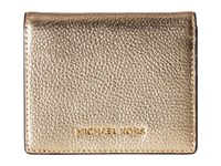 Michael Michael Kors Mercer Flap Card Holder Pale Gold Credit Card Wallet