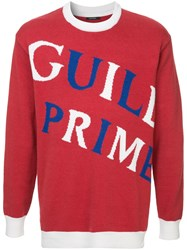 Guild Prime Brand Print Sweater Red