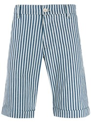 Perfection Striped Bermuda Shorts Blue