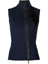 Paco Rabanne Fitted Paneled Tank Top Black