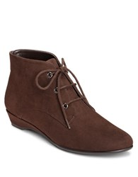 Aerosoles Soterday Night Wedge Booties Brown