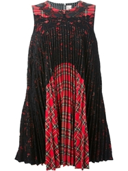 Antonio Marras Tartan Pleated Dress Red