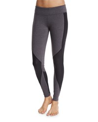 Alo Yoga Undertone Colorblock Paneled Sport Leggings Stormy Hthr Black