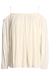 Bailey 44 Cold Shoulder Gathered Modal Top Ivory