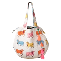 East Jaisalmer Cow Handbag Multi