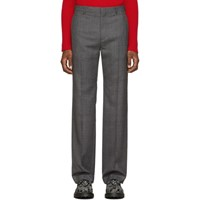 Balenciaga Grey Prince Of Wales Tailored Trousers