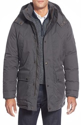 Cole Haan Hooded Parka Charcoal