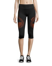 Asics Fit Sana Seamless Sport Capri Leggings Cherry Tomato
