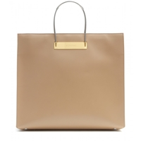 Balenciaga Cable Shopper Medium Leather Tote Beige Nouveau