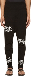 Thamanyah Black Knit Logo Lounge Pants