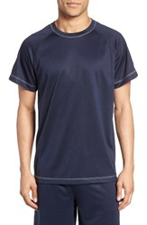 Majestic International Men's Work Out Crewneck T Shirt Navy
