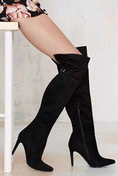 Nasty Gal Knee To Success Vegan Suede Boot