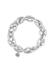 The Sak Silvertone Link Stretch Bracelet